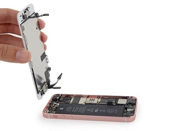 quy trình thay thế màn hình iPhone SE