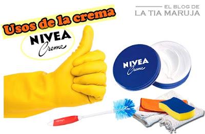 usos crema Nivea lata azul