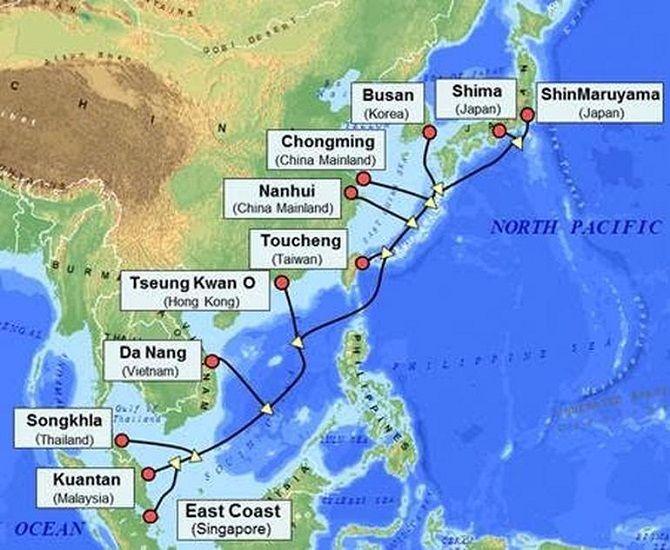 Cáp quang biển APG băng thông 54 Tb/s chạy qua Việt Nam