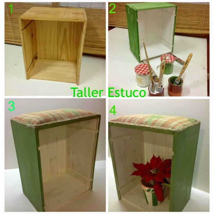 Tutorial reciclar una caja de vino en estanteria
