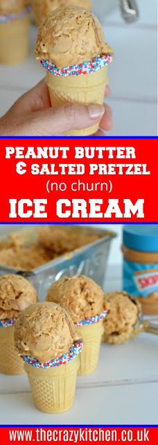 peanut butter and pretzel ice cream