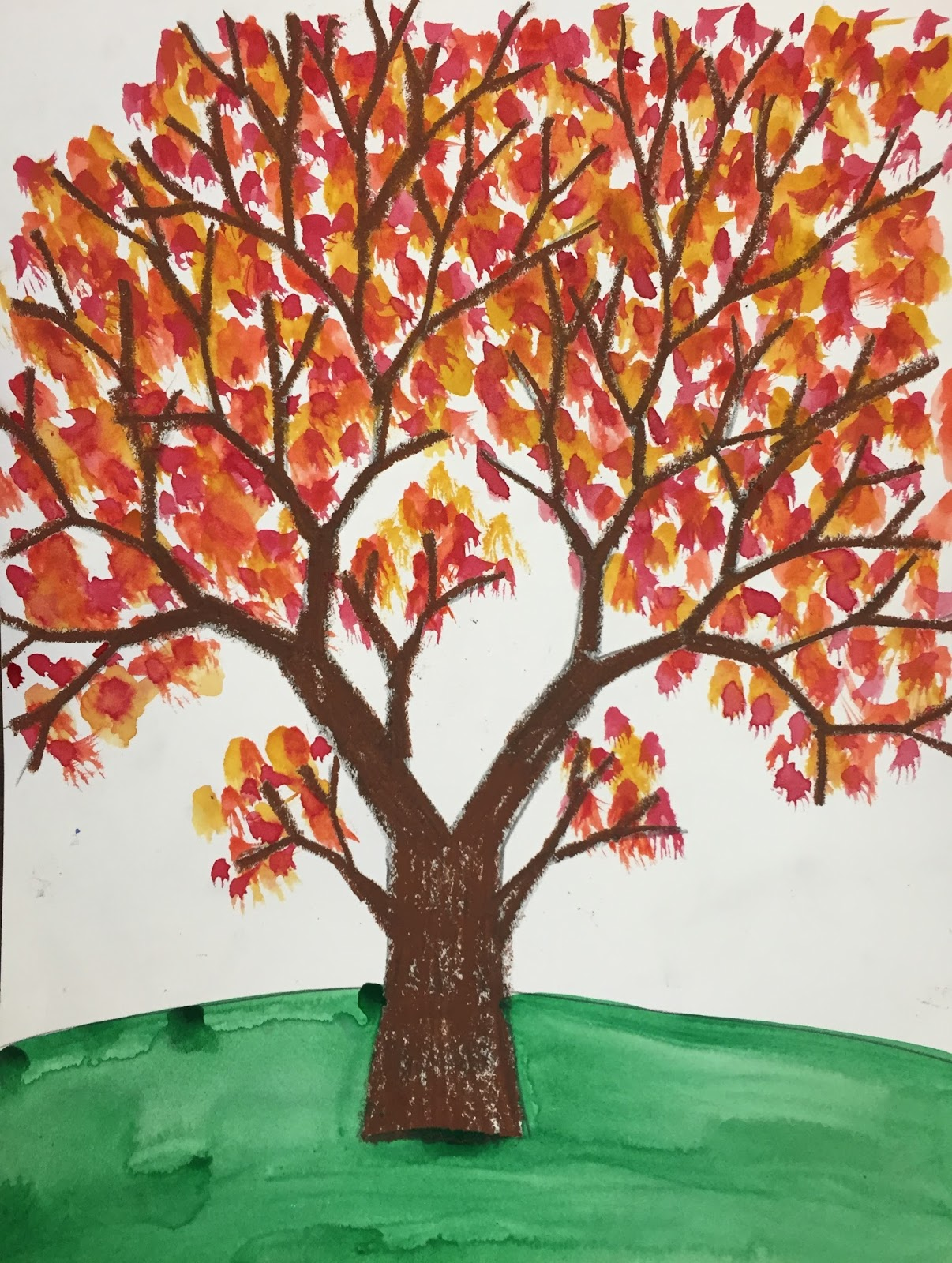 Elements Of The Art Room Kindergarten Amp First Fall Y Trees