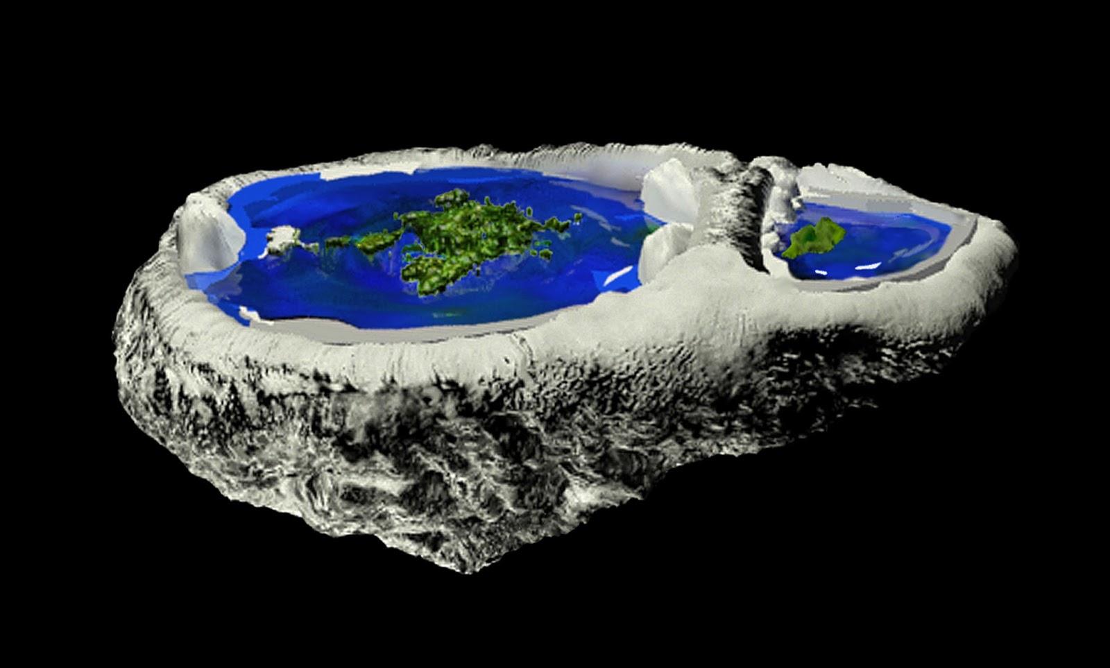 Modelo 3D da Terra Convexa