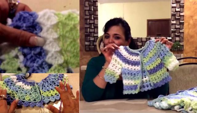 Video-Tutorial: Chaleco de Bebé a Crochet
