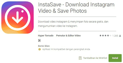 cara download video instagram di hp