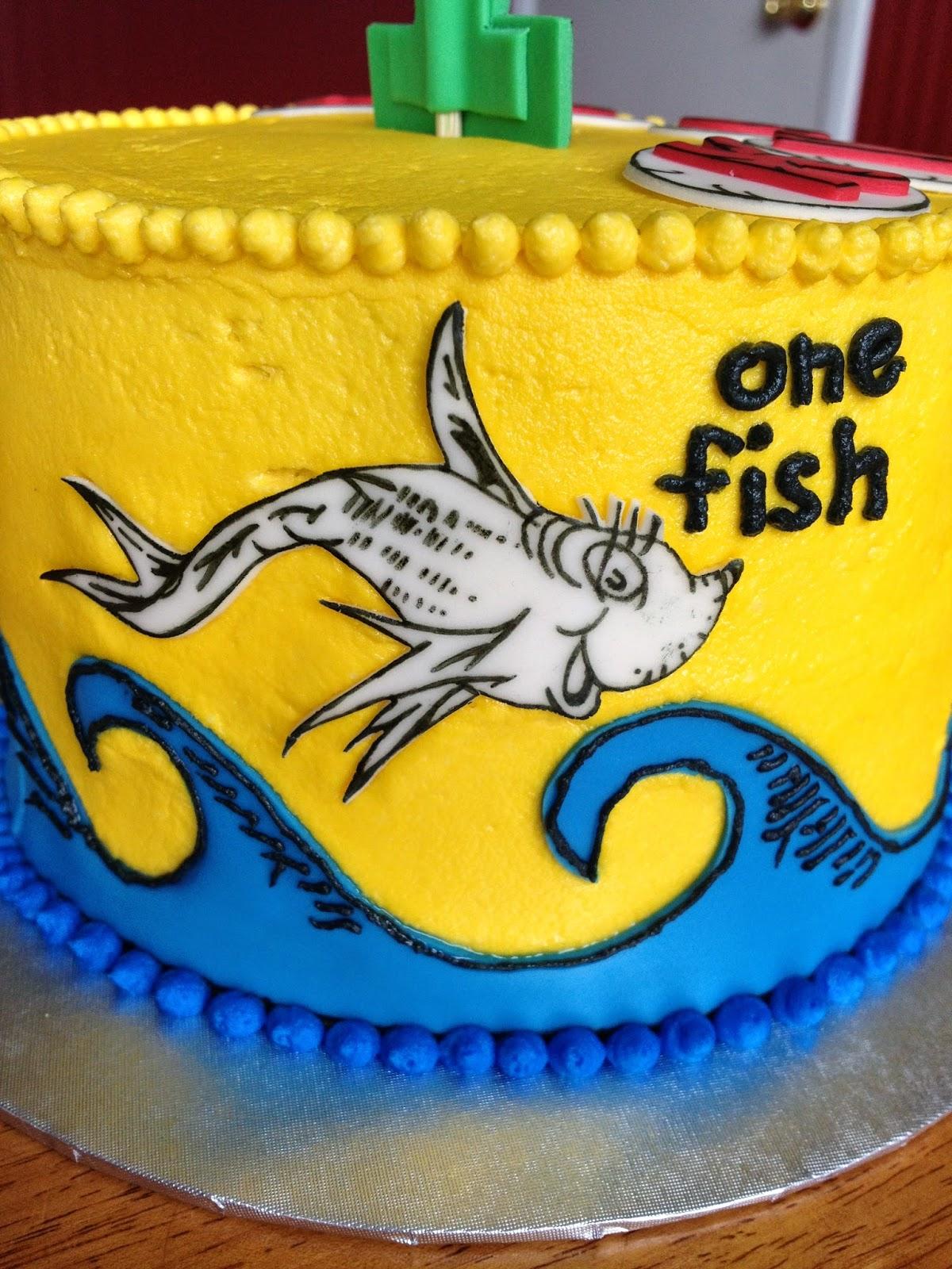 Sugar Love Cake Design One Fish Two Fish Red Fish Blue