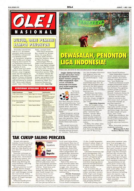 DEWASALAH PENONTON LIGA INDONESIA