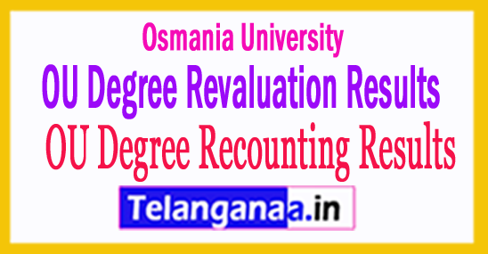 OU Osmania University Degree Revaluation Recounting Results