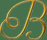 letra b dorada