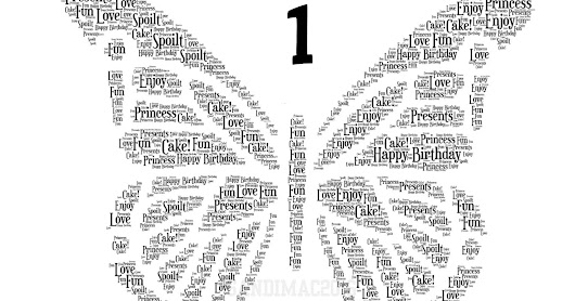 New Butterfly Design Word Art Prints