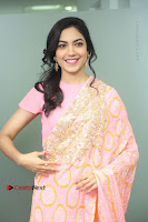 Actress Ritu Varma Pos in Beautiful Pink Anarkali Dress at at Keshava Movie Interview .COM 0026.JPG