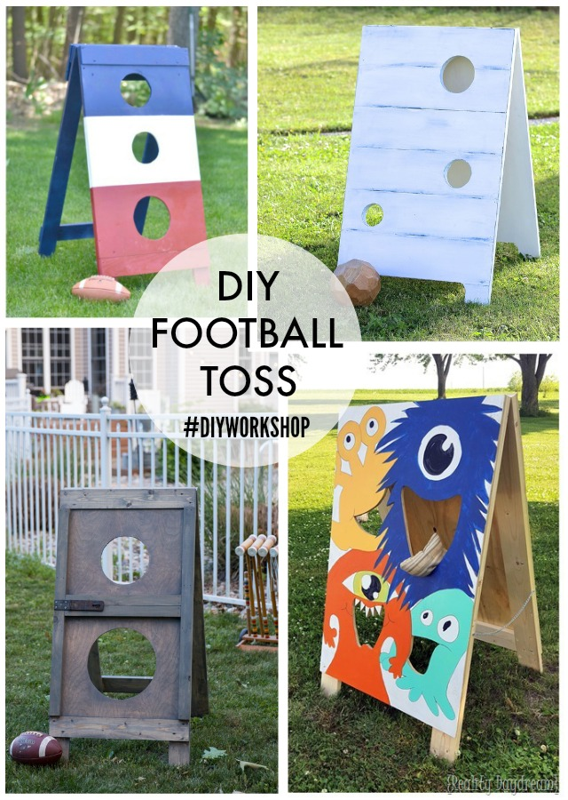 diy football toss custom versions