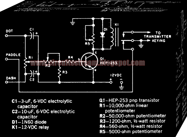 Simple Electronic keyer Circuit Diagram