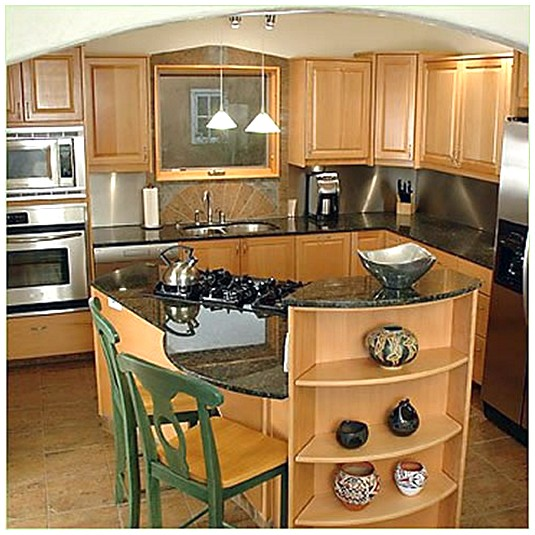 Beautiful Efficient Small Kitchens: HOME DESIGN IDEAS: Small Kitchen Island Design Ideas