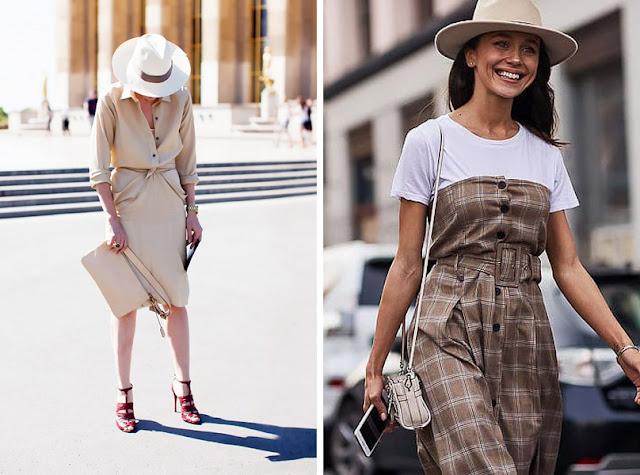 Девушка в фетровой шляпе федоре летом в городе