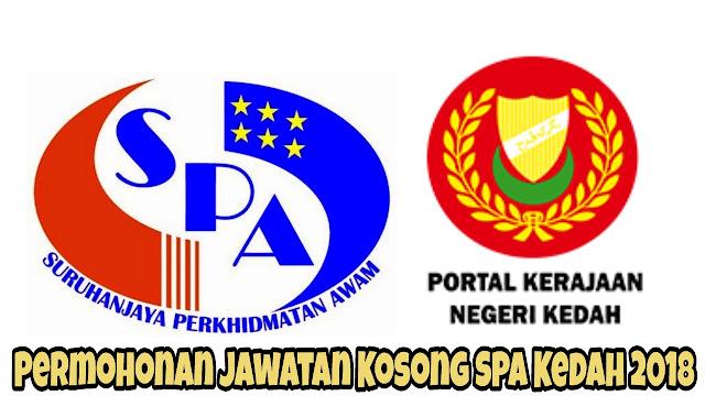 Permohonan Jawatan Kosong SPA Kedah 2018