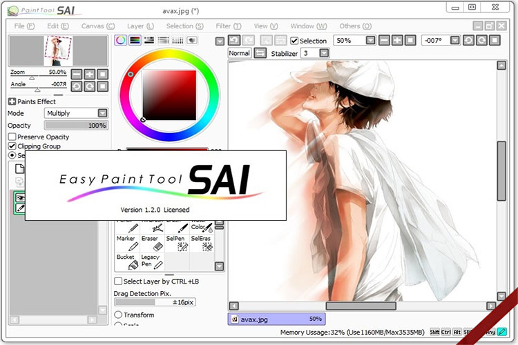 paint tool sai 2 crack