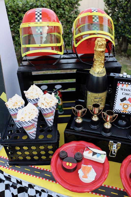 Amigos Tire Shop >> Race Car Party Ideas ft. Mickey and the Roadster Racers - LAURA'S little PARTY