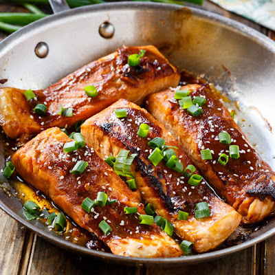 salmon for health but also delicious