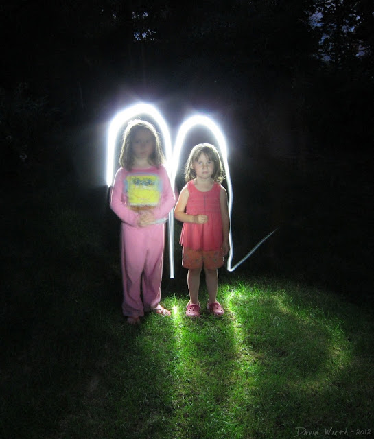 flashlight, sparkler, night exposure, kids fun