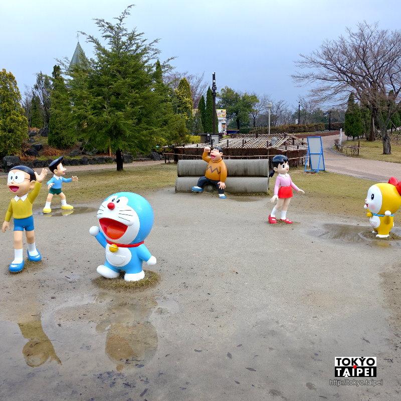 【高岡童話之森公園】完整重現漫畫場景 走入哆啦A夢和大雄玩耍的空地