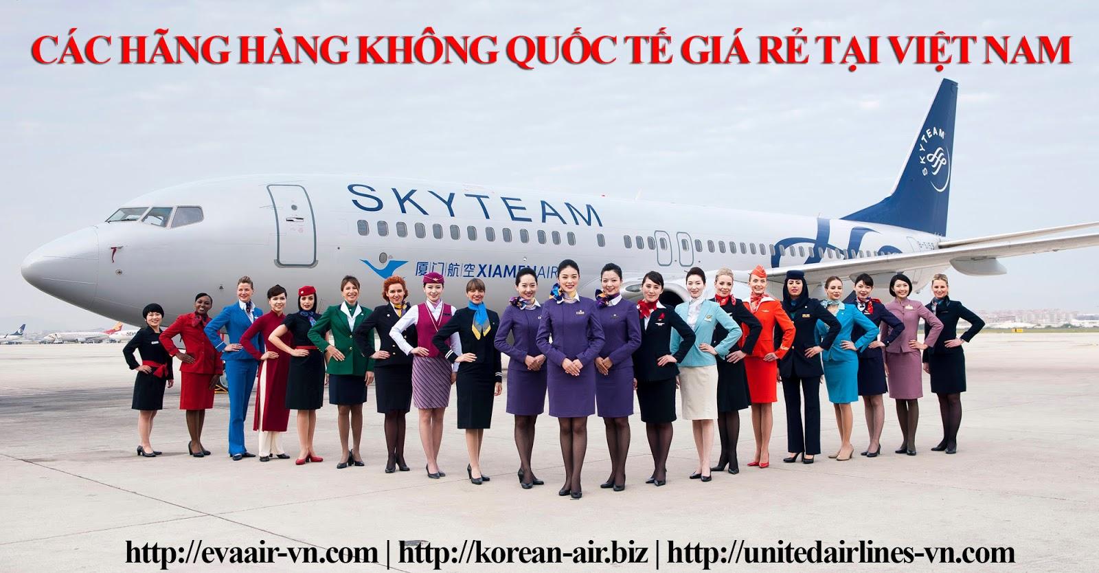 Cac hang hang khong quoc te gia re tai Viet Nam