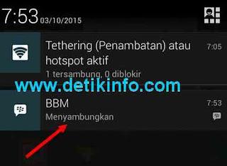 tanda menyambungkan aplikasi BBM