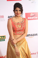 Harshika Ponnacha in orange blouuse brown skirt at Mirchi Music Awards South 2017 ~  Exclusive Celebrities Galleries 006.JPG