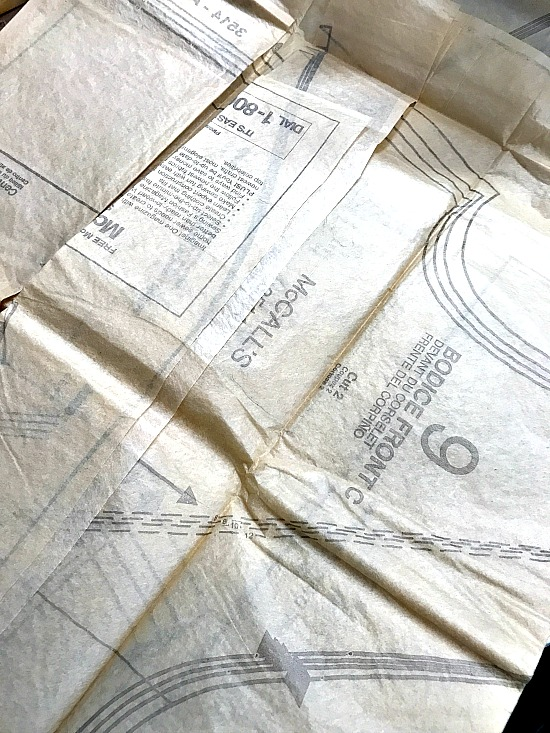 Decoupaging with vintage dress patterns