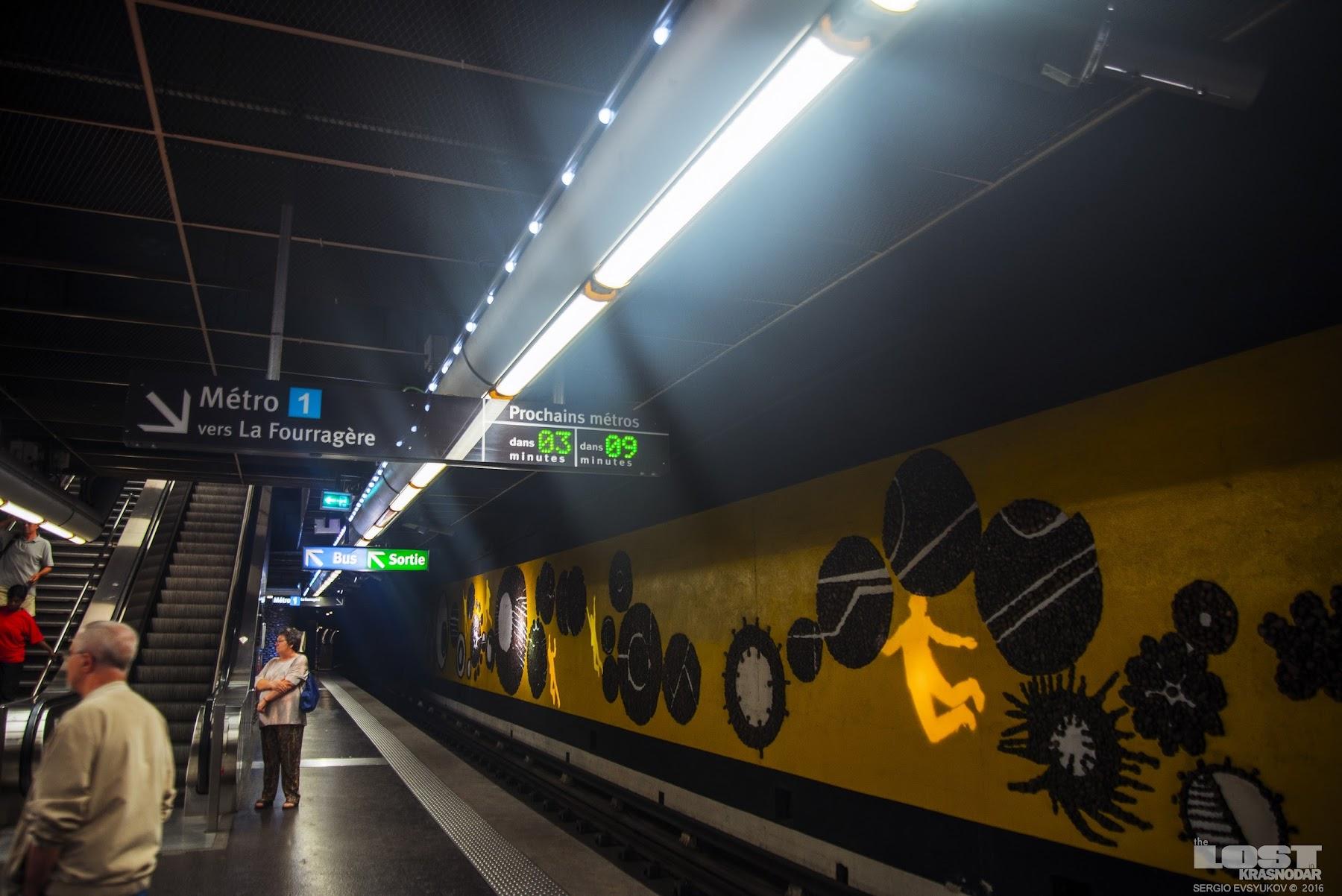 Станция метро в Марселе
