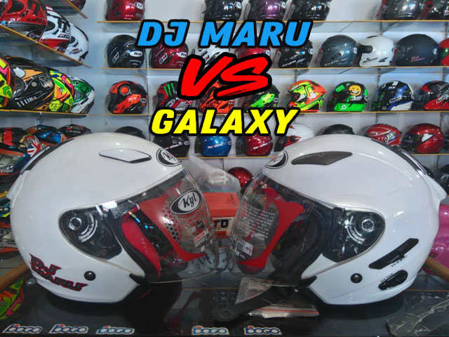 Review: KYT Dj Maru VS KYT Galaxy Slide, Pilih Mana?