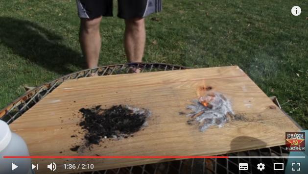 Φωτιά με την βοήθεια της ζάχαρης video