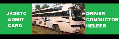 JKSRTC Admit Card 2019 released