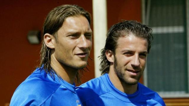 Alessandro Del Piero and Totti