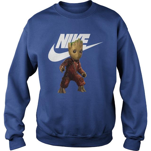 Baby Groot Nike T Shirt Hoodie Sweatshirt 2018 2019 Tank Tops
