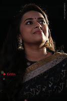 Actress Sri Divya Latest Pos in Black Saree at Sangili Bungili Kathava Thora Tamil Movie Audio Launch  0003.jpg