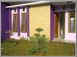 Kombinasi Desain Warna Cat Rumah Ungu Pada Bagian Luar