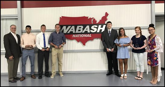 Wabash National 2018 Scholarship Award Winners