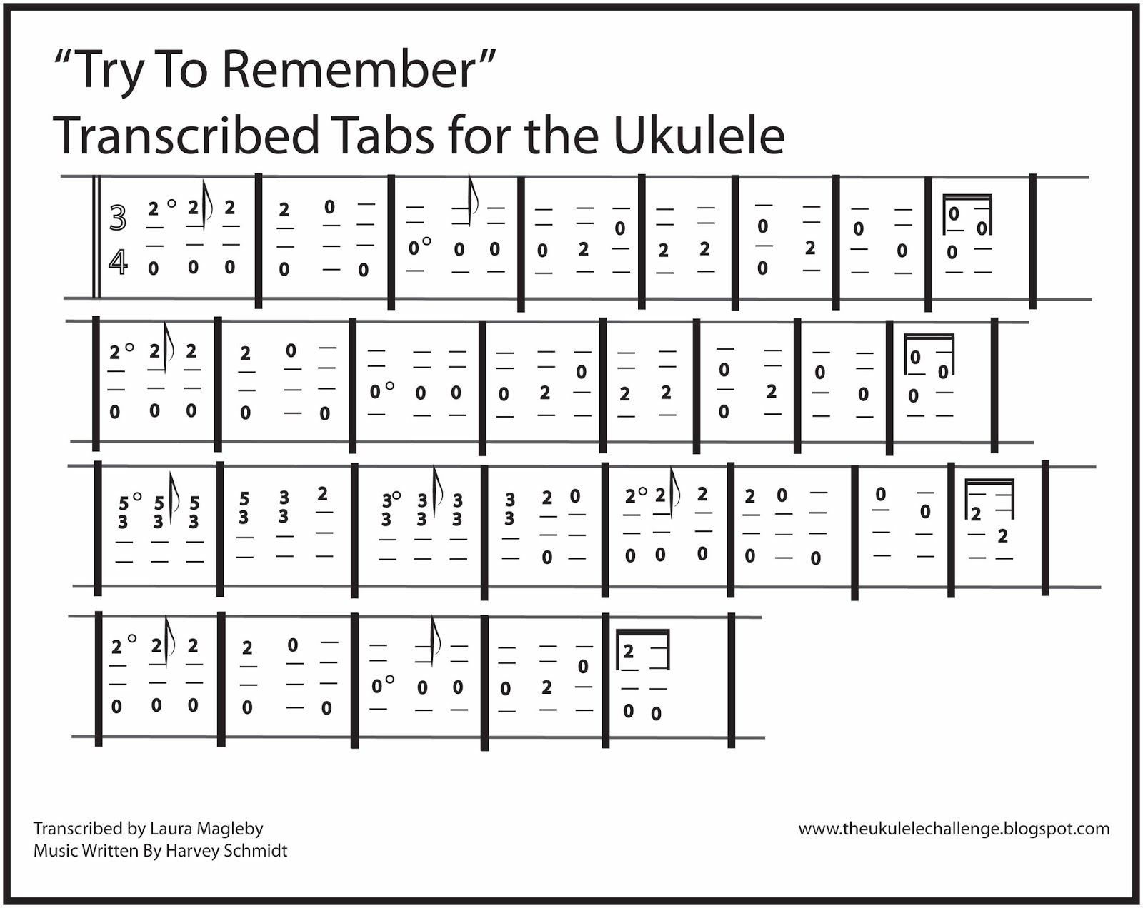 The Ukulele Challenge: Try to Remember