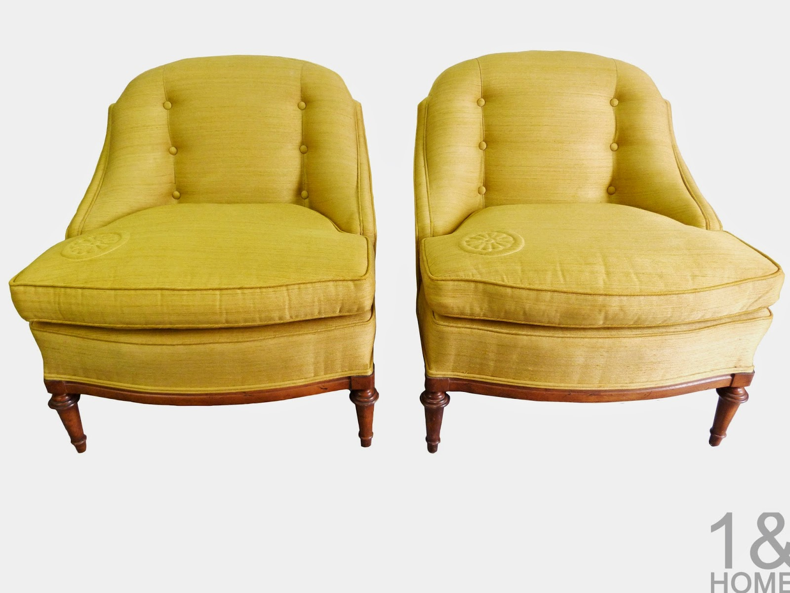 Chartreuse Heritage Morganton (Drexel) Slipper loung club Chairs
