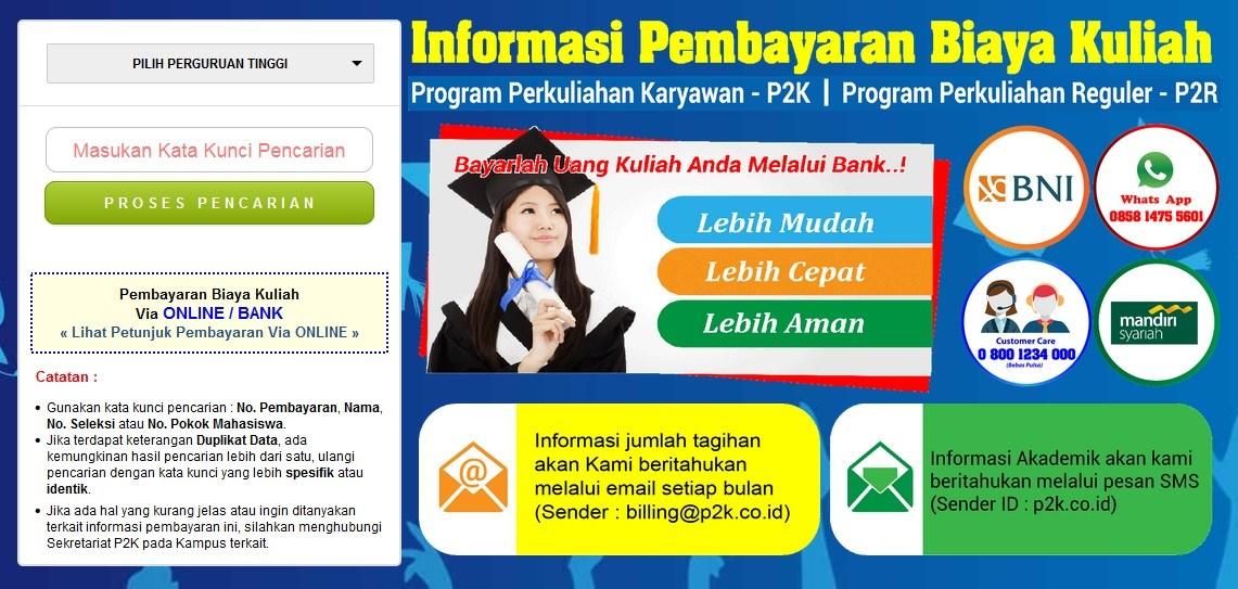 sipema p2k itbu - sistem pembayaran mahasiswa p2k itbu
