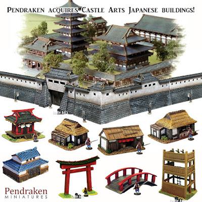 Pendraken Acquires Castle Arts 10mm Japanese Buildings