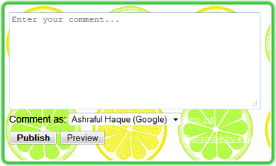 changing blogger comment box color
