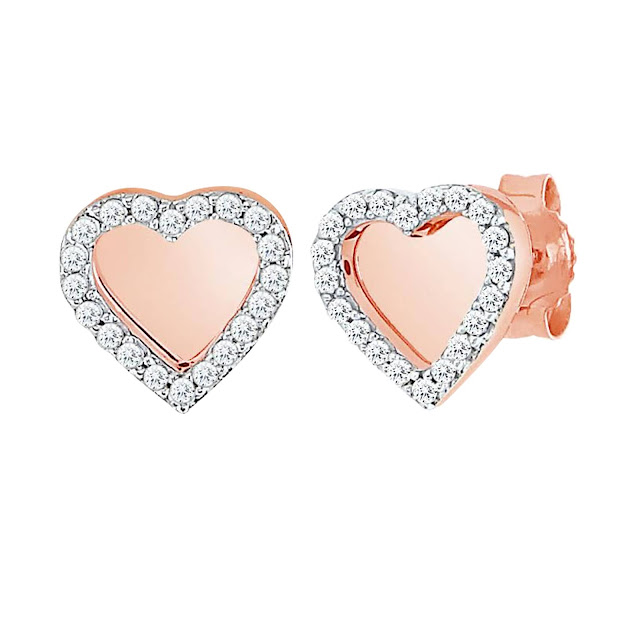 Velvetcase.com- Glossy Diamond Heart Earrings