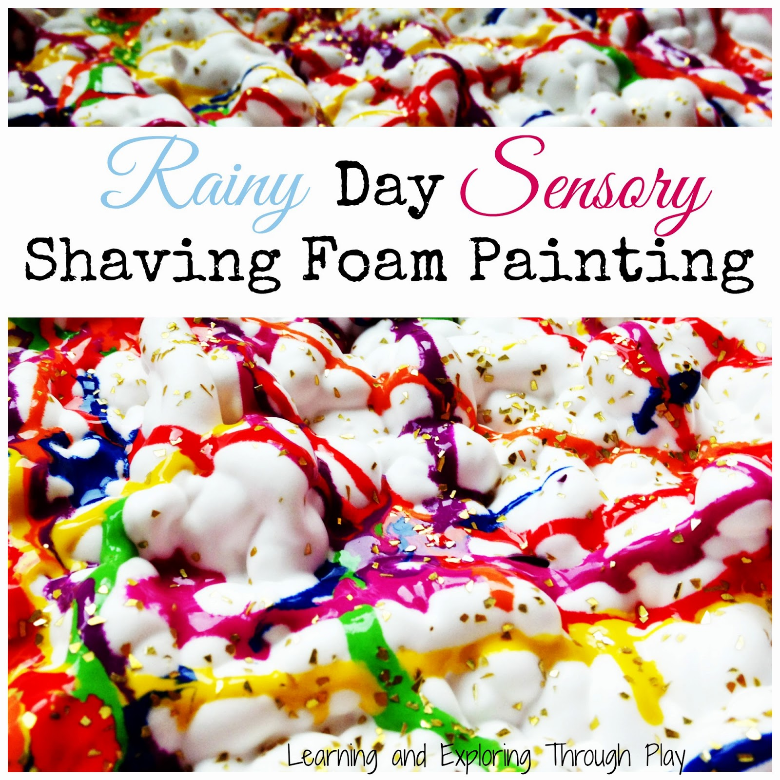 Process Art Sensory Shaving Foam Painting