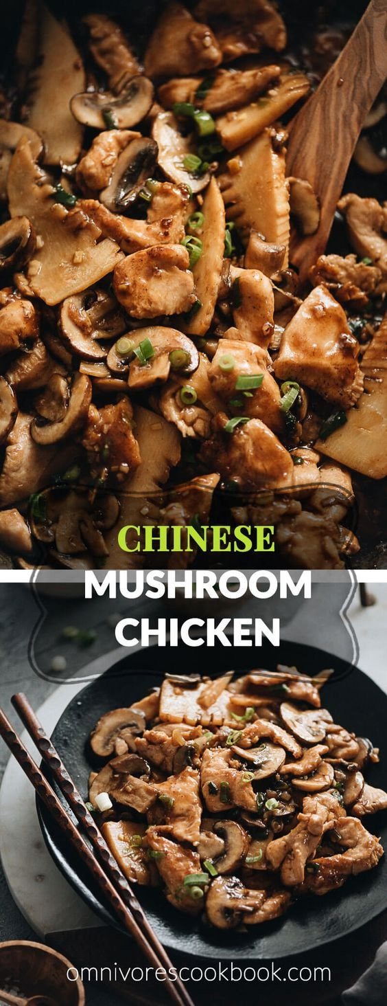 Chinese Mushroom Chicken Stir Fry