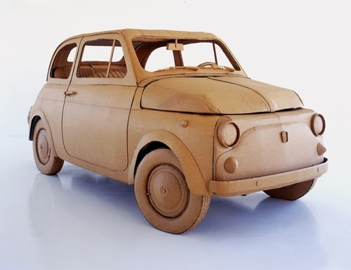 01-Fiat-500-Life-Size-Chris-Gilmour-Cardboard-Sculptures-www-designstack-co