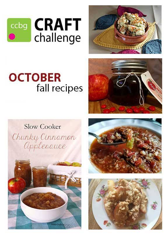 CCBG october challenge fall recipes creative bloggers