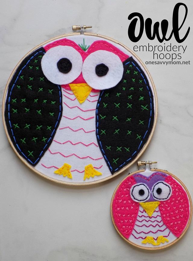 One Savvy Mom Nyc Area Mom Blog Owl Embroidery Hoops Kids