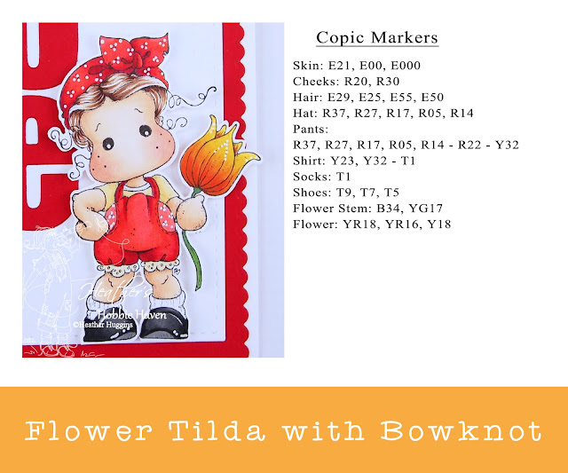 Heather's Hobbie Haven - Flower Tilda with Bowknot Card Kit